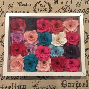 Shadowbox Roses